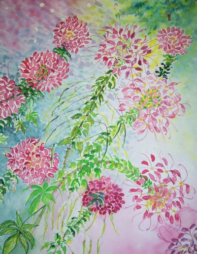 "Cleome Breeze, 33"" h x 22"" w 