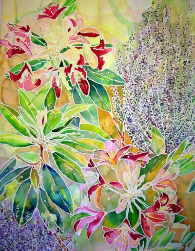 "Rhodo Lavender, 39"" h x 30"" w 