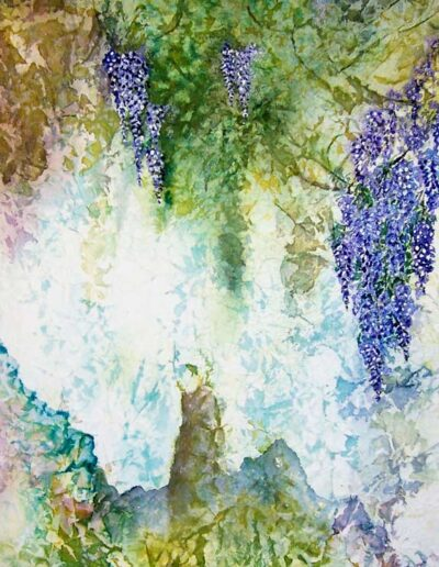 "Wisteria Falls, 27"" h x 16"" w 